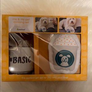 """Starbucks inspired """"basic"""" Dog Toy and Mug Set NWT"""